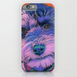 Winnie the schnoodle iPhone Case
