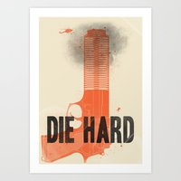 die hard Art Prints featuring Die Hard by Wharton