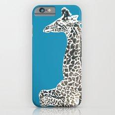 Giraffe in Blue iPhone 6s Slim Case