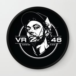 Valentino Rossi Emblem (Black & White) Wall Clock