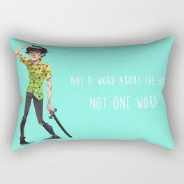 Not One Word Rectangular Pillow