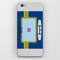 transformers iPhone & iPod Skins featuring Soundwave Transformers Minimalist by Jamesy