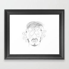 I'm grabbing your eyes baby ! Framed Art Print