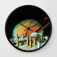 religion Wall Clocks featuring The religion  by Hugo Barros
