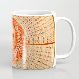 Declination of a Red Sun Coffee Mug