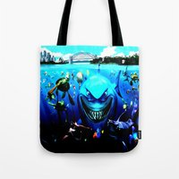 nemo Tote Bags featuring nemo by Marwan Baghdadi