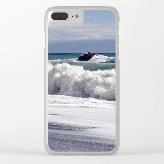 WAVES EASTCOAST SICILY Clear iPhone Case