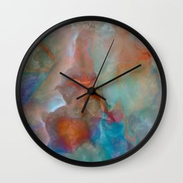Colorful watercolor abstraction Wall Clock