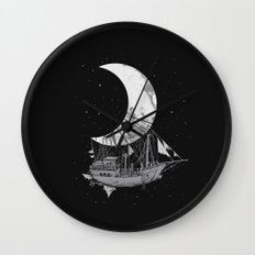 Moon Ship Wall Clock