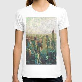 New York City Skyline Vang Gogh Style Oil Painting T-shirt