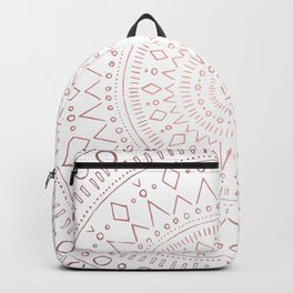 Tribal Mandala Sketch - Rose Gold Backpack
