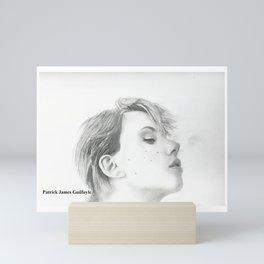 Drawing of Scarlett Johansson Mini Art Print