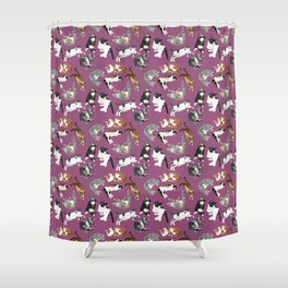 Lounging Cats Shower Curtain