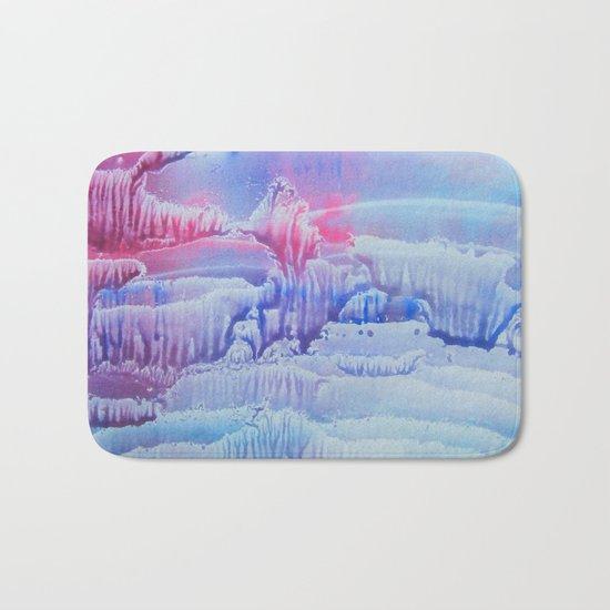 blue underwater world 3 Bath Mat