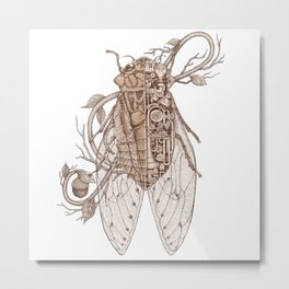 anatomy of cicada Metal Print