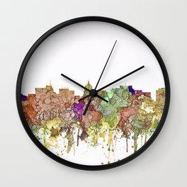 Madison, Wisconson Skyline - Faded Glory Wall Clock