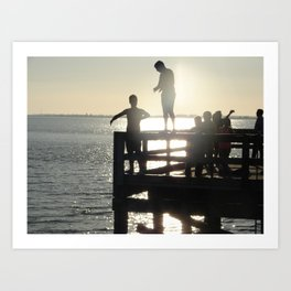 Diving Crescent Beach Art Print