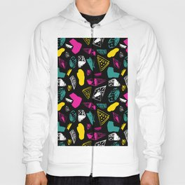 Print in memphis style design Hoody