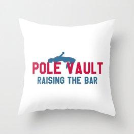 Athletics love pole vault gift Throw Pillow