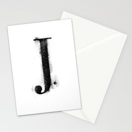 J. - Distressed Initial Stationery Cards