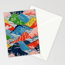 Japanese mountains Stationery Cards