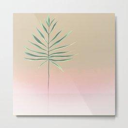 Pink & Palm Metal Print