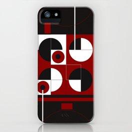 Geometric/Red-White-Black  1 iPhone Case