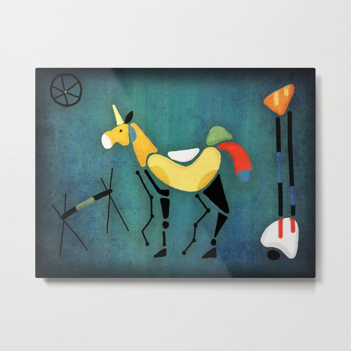 Surrealist Unicorn Metal Print