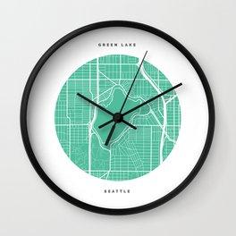 Green Lake, Seattle Wall Clock