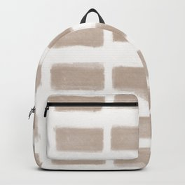 Brush Strokes Horizontal Lines Nude on Off White Backpack