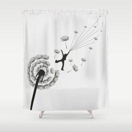 Free Dandelion Shower Curtain
