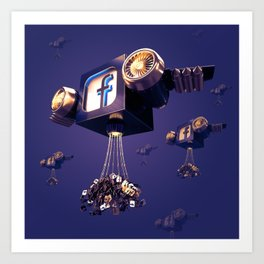 Facebook Account Delivery Art Print