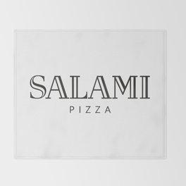 SALAMI PIZZA - taste for fashion Throw Blanket