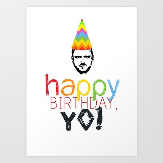 Breaking Bad Birthday Card Jesse Pinkman Art Print