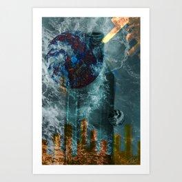 Gravity Glass Art Print