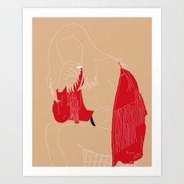 Tan-Red Art Print