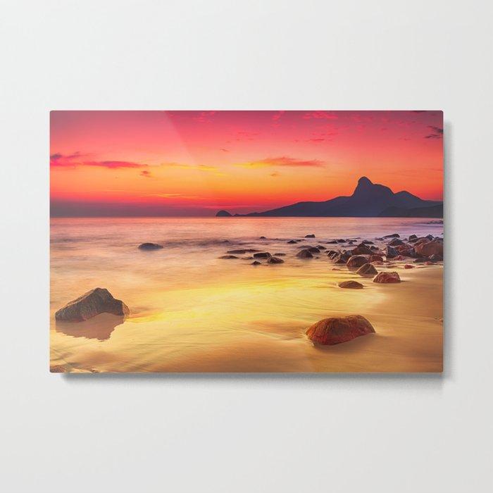 Sunrise over the Beach Metal Print