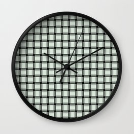 Small Pastel Green Weave Wall Clock