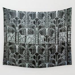 Pewter, art nouveau, metallic art work, belle époque,victorian,vintage photo,manipulated Wall Tapestry
