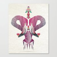 flamingo Canvas Prints featuring flamingo by Manoou