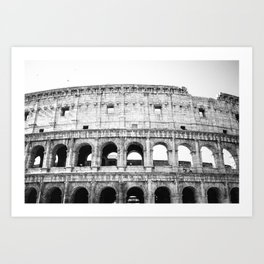 Colosseo in Black and White Art Print