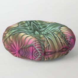 Multicolor  abstract patterns Floor Pillow
