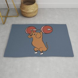 The snatch weightlifting Dachshund Rug