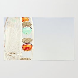 Touch the Sky | Colorful Ferris Wheel Photograph Rug