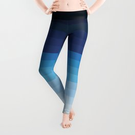 Butterfly Princess Blue Stripes Leggings