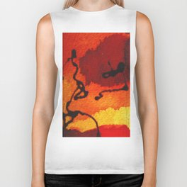 abstract composition Biker Tank