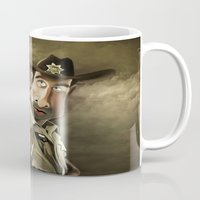 rick grimes Mugs featuring The Walking Dead | Rick Grimes by AnkitS
