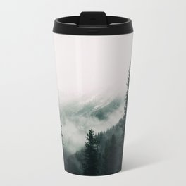 Over the Mountains and trough the Woods -  Forest Nature Photography Metal Travel Mug