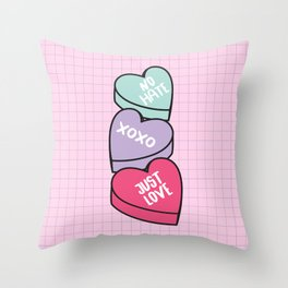 No Hate Just Love Throw Pillow