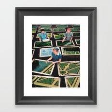 Tending the gardens  Framed Art Print